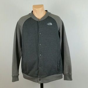 The North Face Men's Grey Bomber Jacket Size XL
